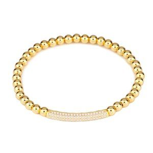 Jewelry - stretching  brass beads /CZ bracelet